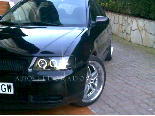 Faros Angel Eyes Audi A3 8l 96 00 Negro