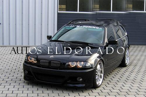 Faros Angel Eyes Bmw Serie 3 E46 Sedan 98 01 Negro