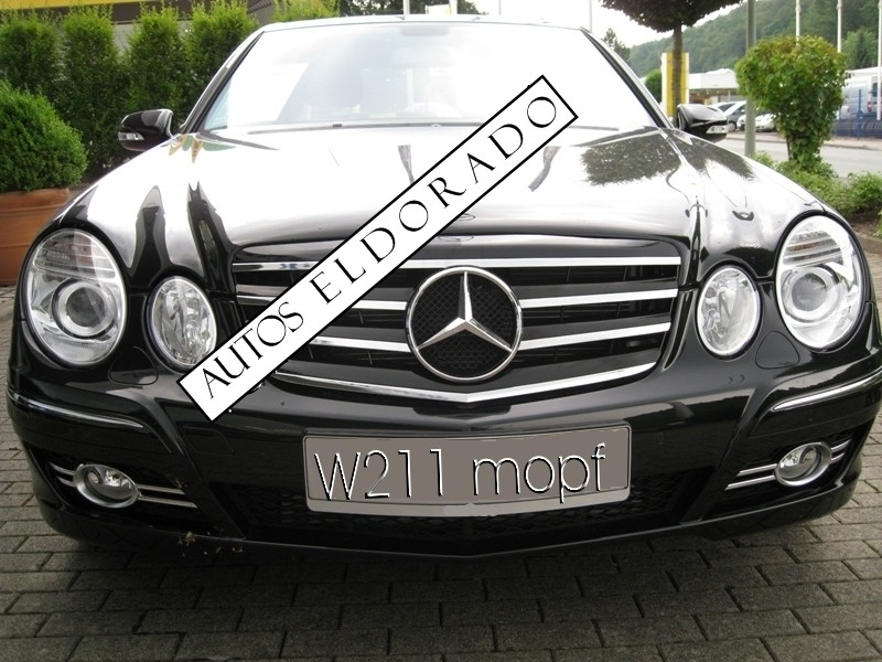 Parrilla rejilla mercedes e w211 look amg negra cromo 07 09 for Mercedes benz of reno staff