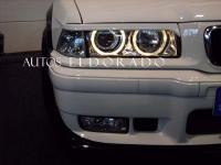 FAROS BMW SERIE 3 E36 SEDAN ANGEL EYES + INTERMITENTE CROMO