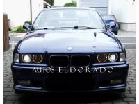 FAROS BMW SERIE 3 E36 SEDAN ANGEL EYES + INTERMITENTE NEGRO