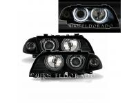 FAROS BMW E46 CCFL LED BLANCO 98-01 FONDO NEGRO+ INTERMITENTES