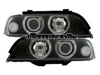 FAROS BMW E39 ANGEL EYES H7 LOOK FACELIFT NEGROS 1996-2000