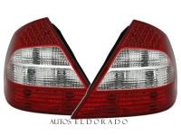 PILOTOS MERCEDES CLASE E W211 BLANCO/ROJO look RESTYLING