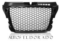 PARRILLA AUDI A3 8P3 08-12 RS LOOK NEGRO BRILLO