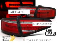 PILOTOS LED AUDI A4 B8 ROJO DINAMICOS 12-15 COCHES SIN LED