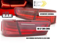 PILOTOS AUDI A6 C7 (4g) INTERMITENTE LED SECUENCIAL 2011-15 ROJO