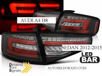 PILOTOS LED AUDI A4 B8 NEGRO DINAMICOS 12-15 COCHES SIN LED